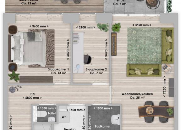 Danta, 3-kamer 67 m²