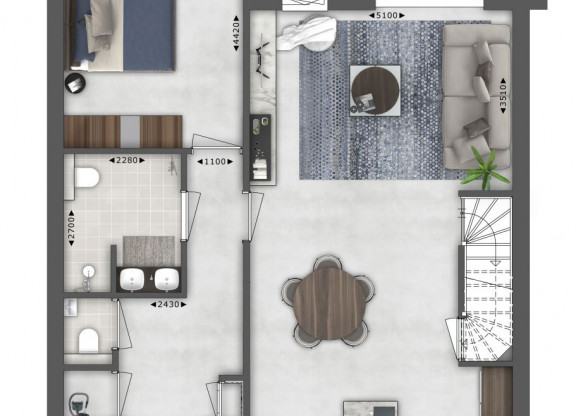 Semi bungalow - Type I