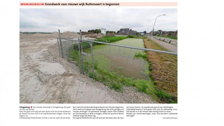 Grondwerk voor nieuwe wijk Buitenvaert is begonnen