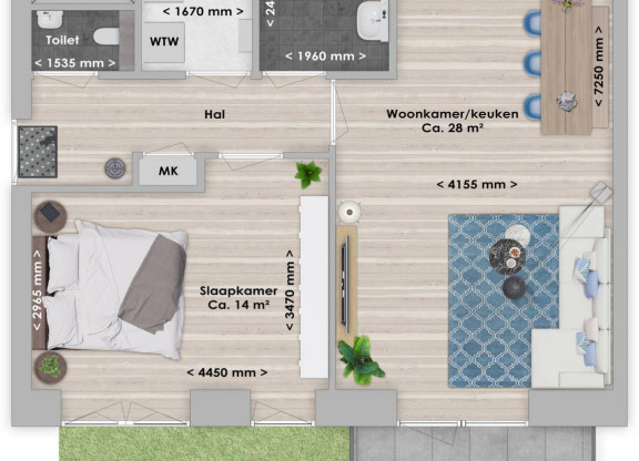 Abura, 2-kamer 60 m²