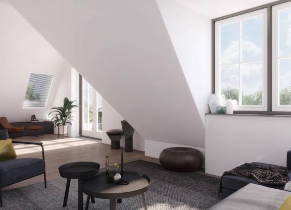 Tweekamer-tussen-appartement groenzijde