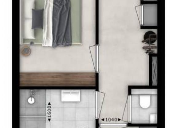 Tweekamer appartement| Type T