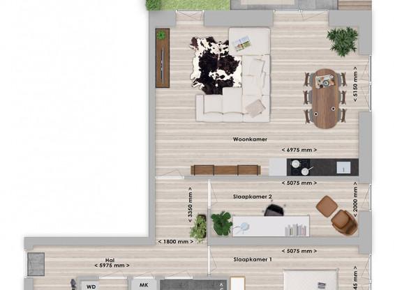 Limba 3-kamer appartement 85-86 m²