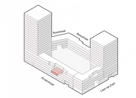 Binnentuin appartement