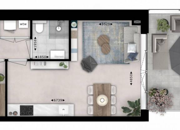 Tweekamer appartement| Type M