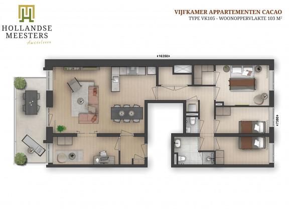 08. Koop: 5-kamer appartement CACAO