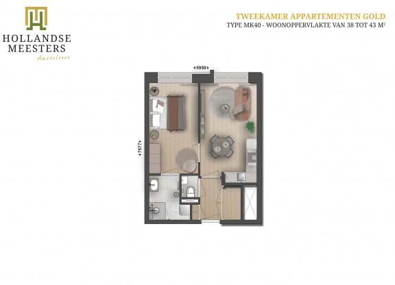 01. Koop: 2-kamer appartement GOLD