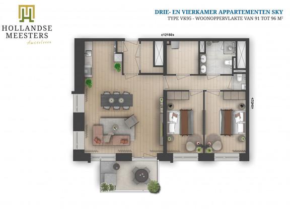 07. Koop: 3 en 4-kamer appartement SKY