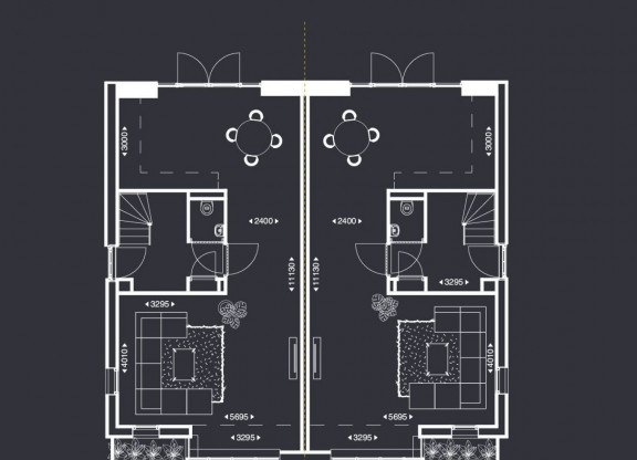 Luxe Twee-onder-een-kapwoningen met erker - A2