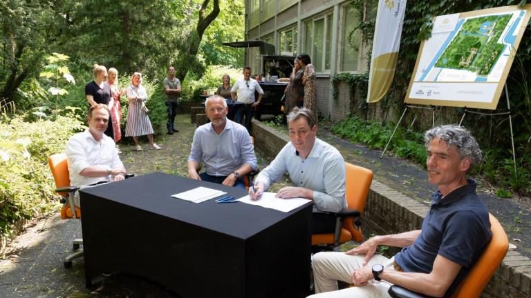 Ondertekening anterieure overeenkomst De Boskamer