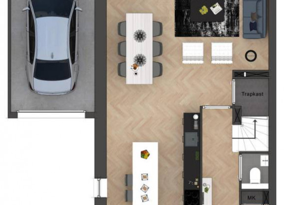 Type D Twee-onder-een-kapwoning met garage