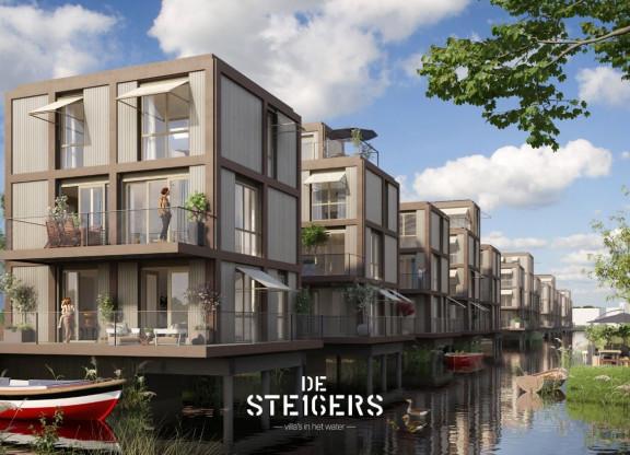 16 watervilla's Amsterdam Noord - De Steigers